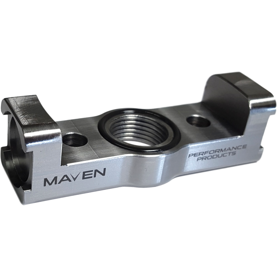 Maven Products Billet Oil Drain Small Frame Turbo Mount for Tubular Support-Maven-Motion Raceworks