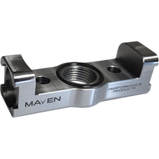 Maven Products Billet Oil Drain Small Frame Turbo Mount for Tubulular Support