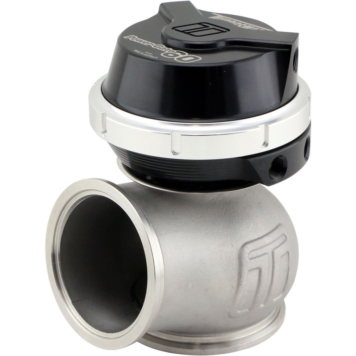 Turbosmart Gen-V WG60 Power-Gate 60mm Wastegate 14psi Black TS-0555-1012-Turbosmart-Motion Raceworks