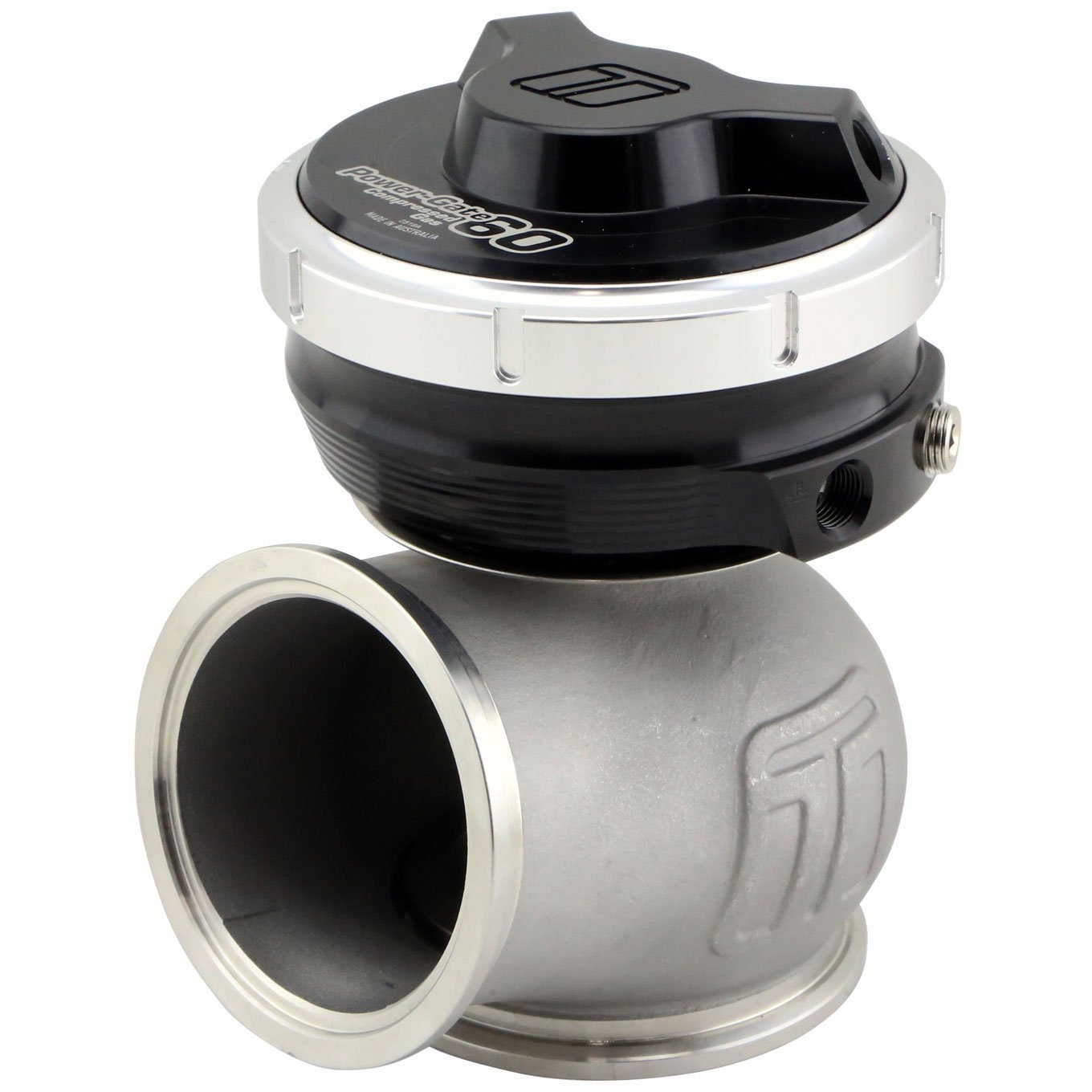Turbosmart Gen-V WG60CG Power-Gate 60mm Wastegate Compressed Gas 5psi Black TS-0555-1202-Turbosmart-Motion Raceworks