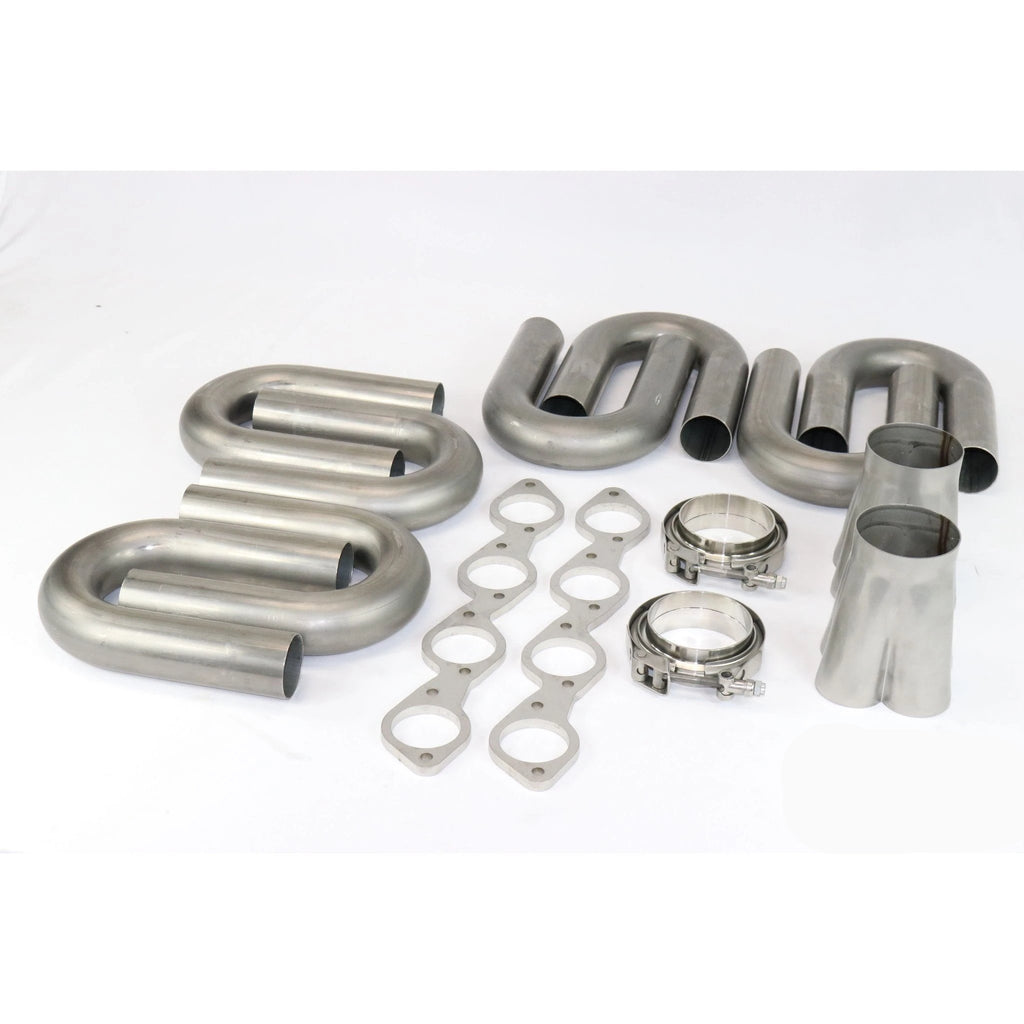 Big Block Chevy Stainless Turbo Header Build Kit 2 250 to 3 5