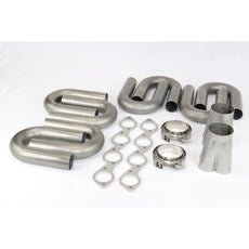 "Big Block Chevy Stainless Turbo Header Build Kit 2.250 to 3.5"" Collector"