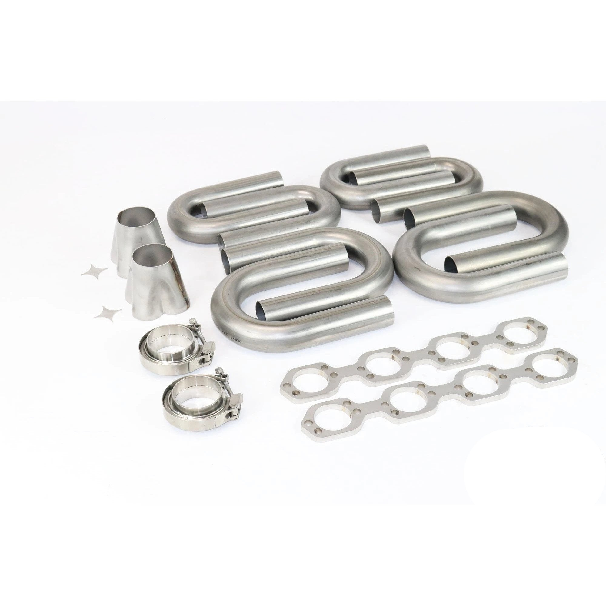 Ford Hi Port SBF 304 Stainless Turbo Header Build Kit 1 7/8-Kit-Motion Raceworks