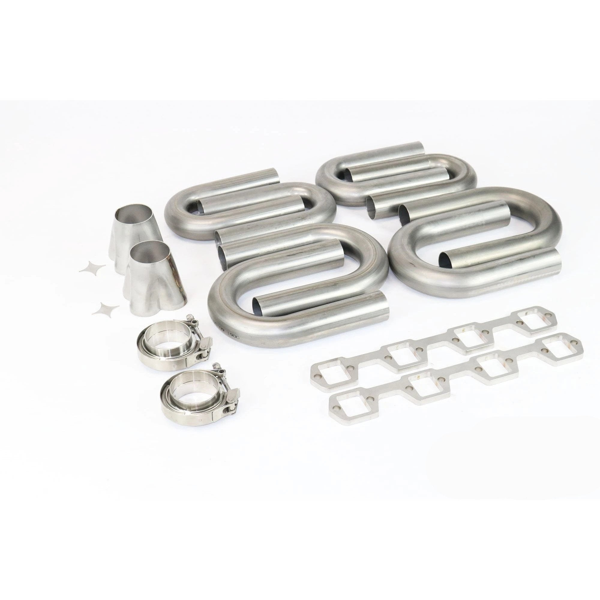 Ford SBF Windsor 304 Stainless Turbo Header Build Kit - Motion Raceworks