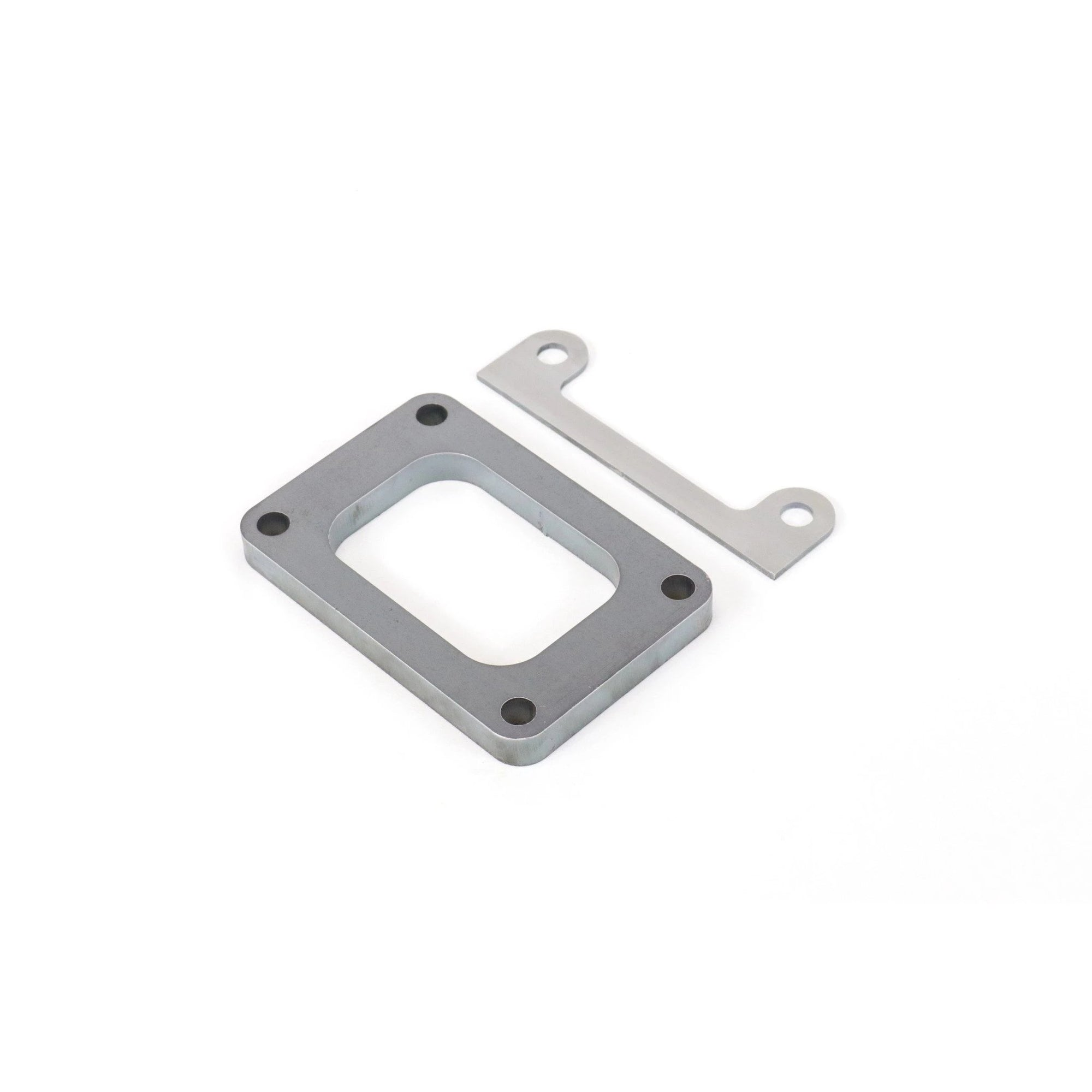 "Mild Steel T5 Turbo Flange Open Inlet 1/2"" thickness w/ weld on mounting bracket-Motion Raceworks-Motion Raceworks"