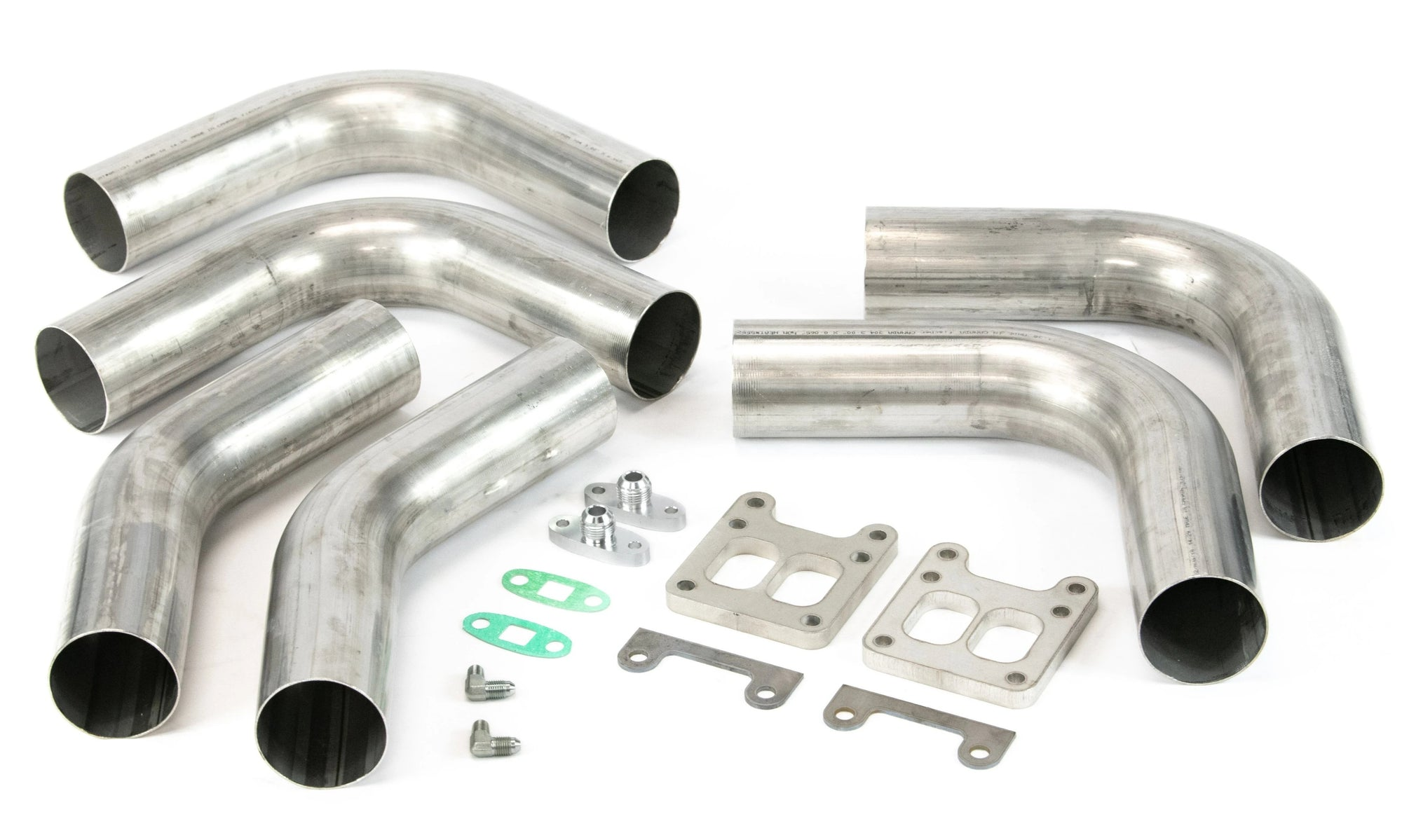 T4 Twin Turbo Hotside Build Kit-Mandrel Bends-Motion Raceworks