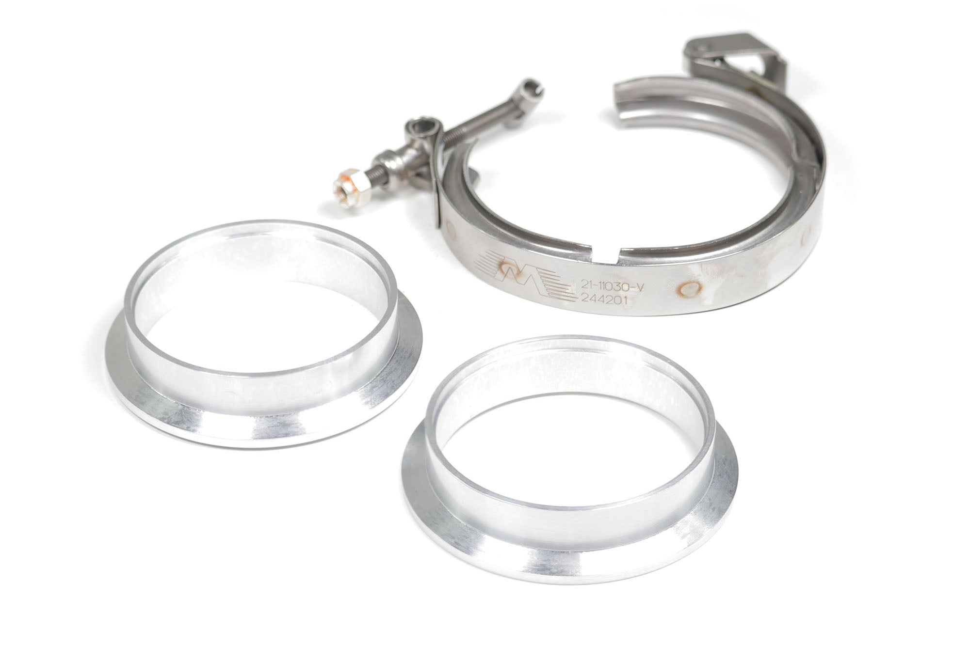 "Motion Raceworks 4"" Aluminum O-ring V-Band Set w/ Quick Release Clamp-Motion Raceworks-Motion Raceworks"