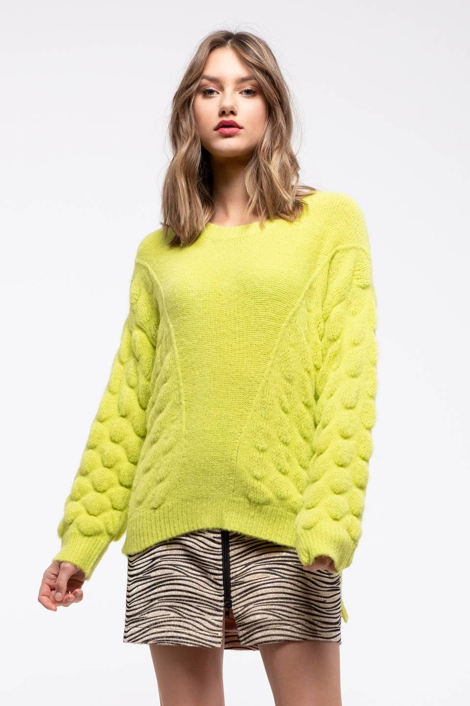 Textured Lime Green Sweater