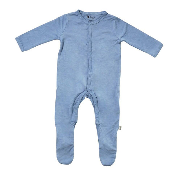 Kyte Baby Solid Footie Pajamas in Slate