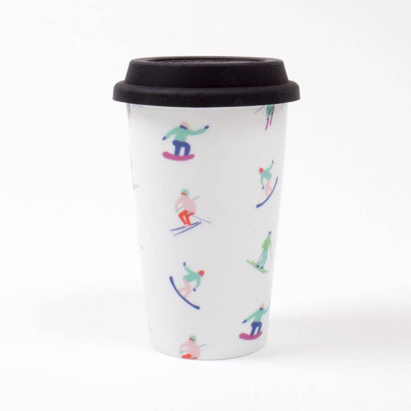 12oz Skier Print Travel Mug