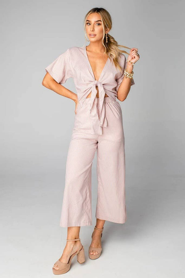 Ilene Tan Stripe Jumpsuit
