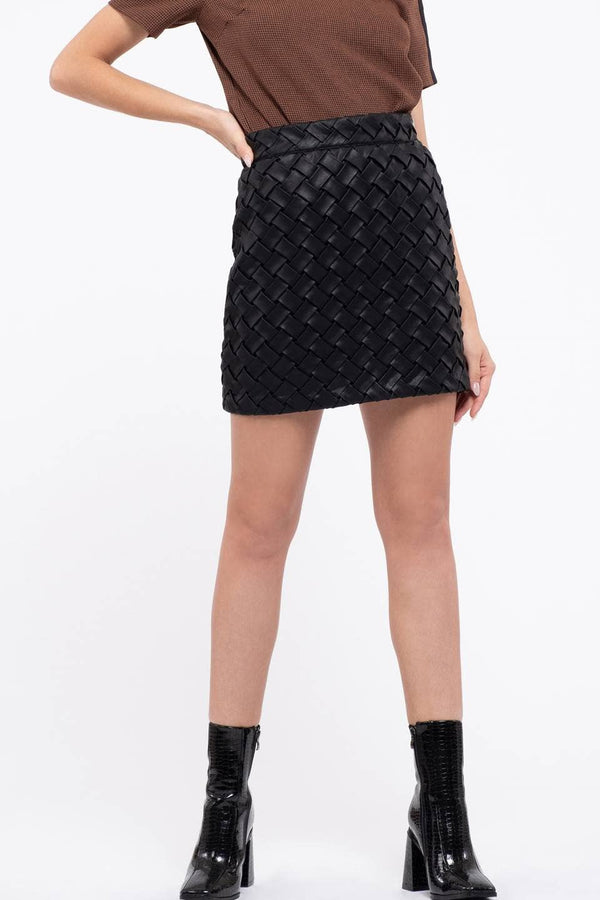 Side Zip Mini Skirt