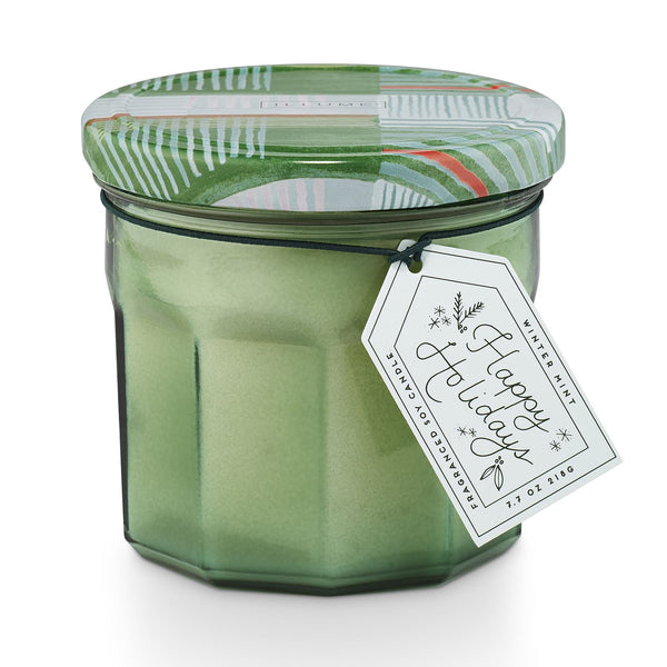 Winter Mint Joy Jar Glass Candle - 7.7oz
