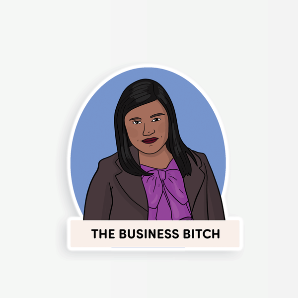 Kelly Kapoor Business Bitch Sticker