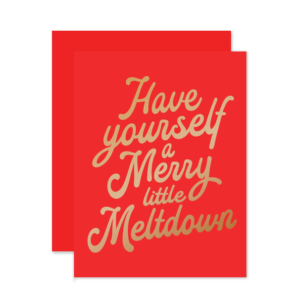 Merry Little Meltdown Holiday Card