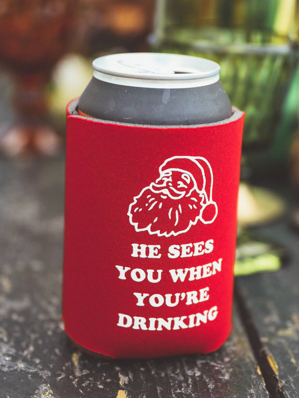 He Sees You When You're Drinking Drink Sleeve