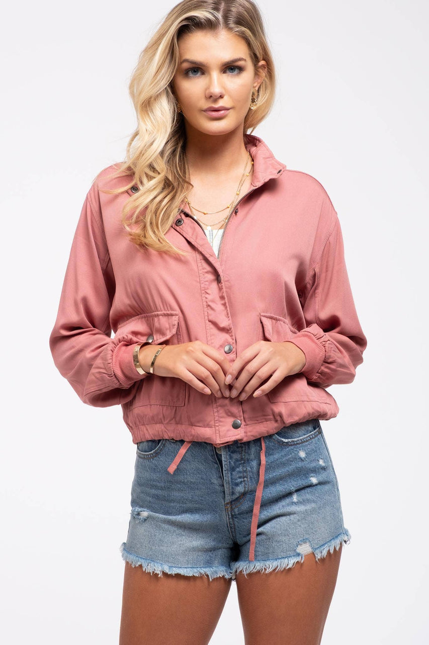 Ruched Sleeve Jacket