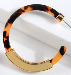 Acrylic Gold Hoops