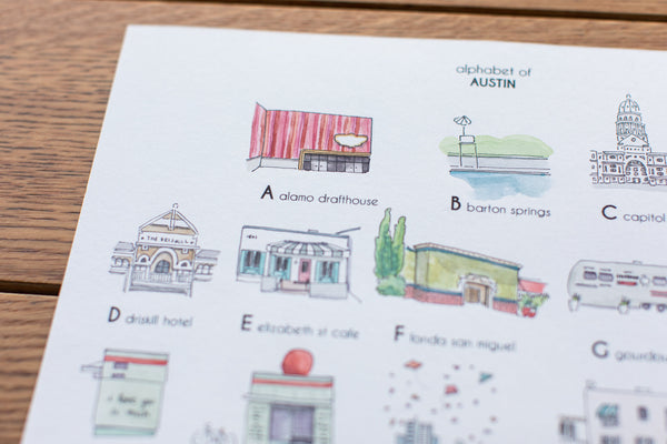 Watercolor ATX Prints