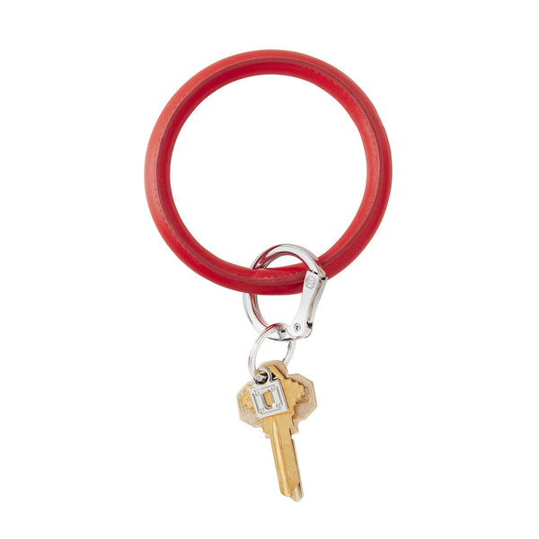 Vegan Leather Big O Key Ring