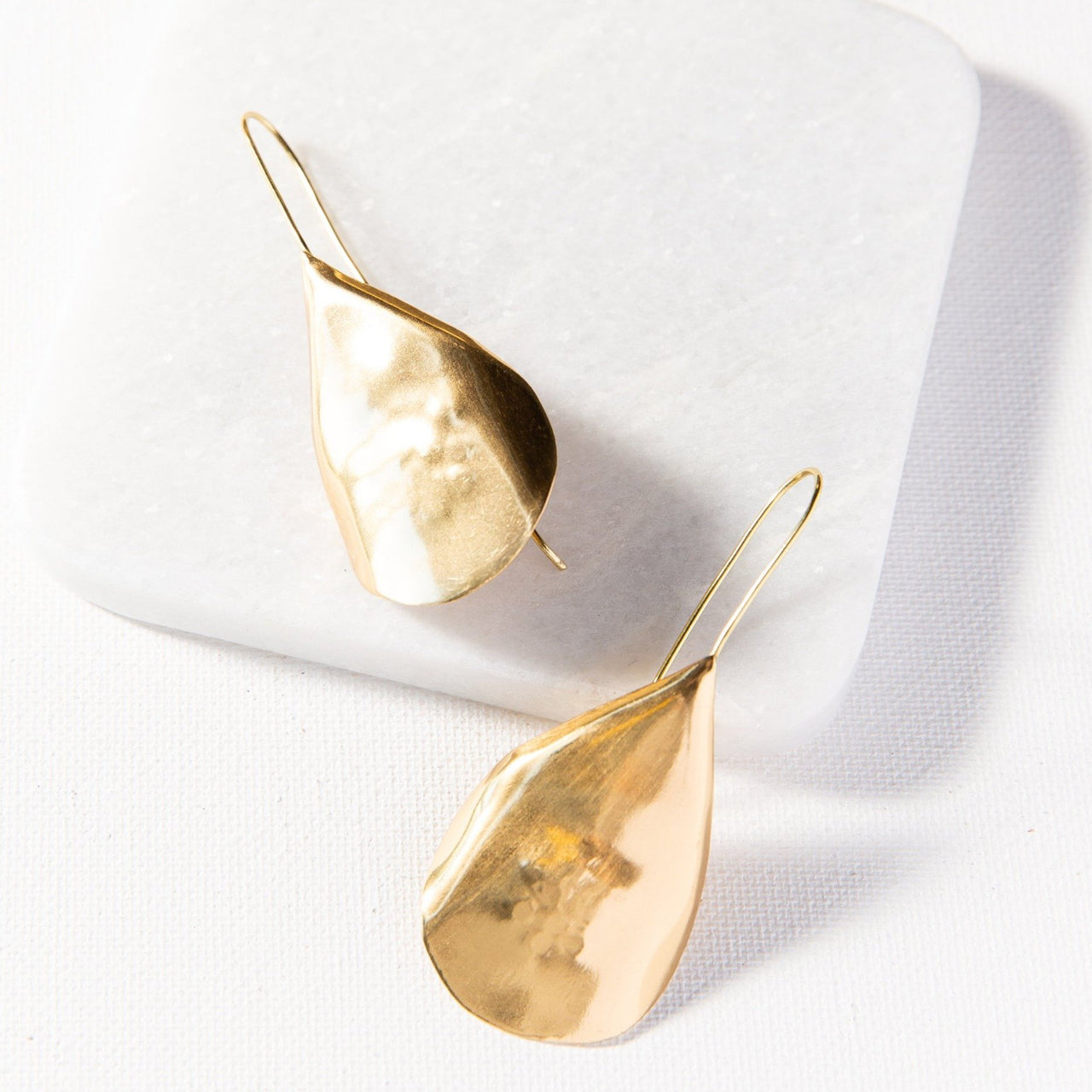 Brass Solid Drop Earrings