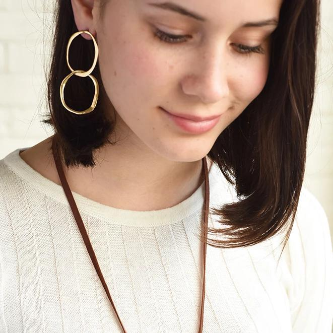 Open Double Circle Earrings
