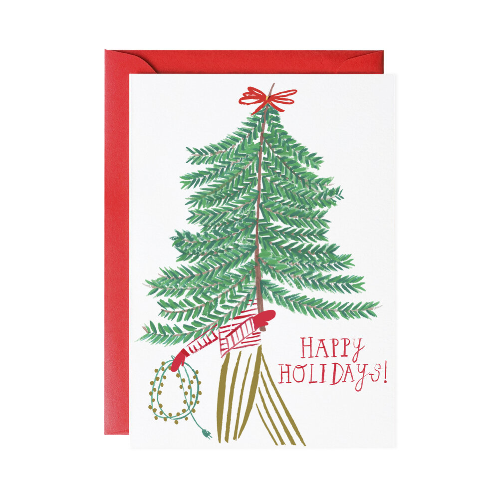 Happy Holidays Tree Greeting Card