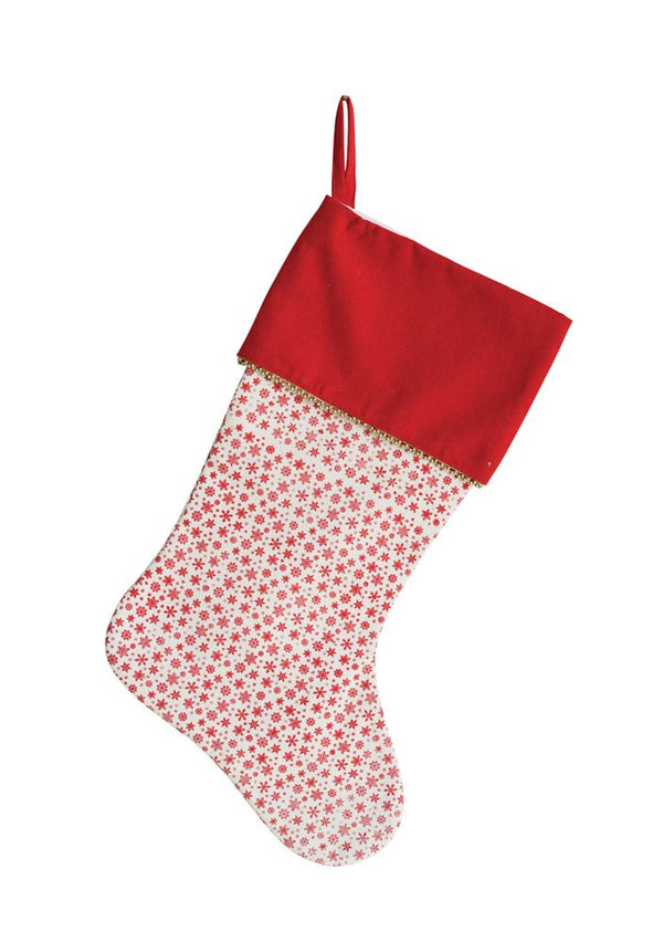 Holiday Snowflake Stocking