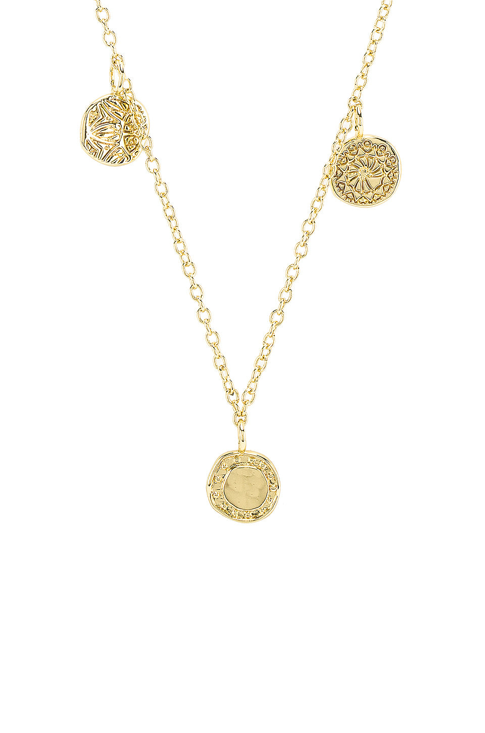 Cruz Mixed Coin Necklace