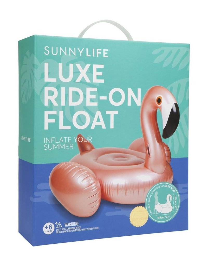SUNNYLIFE Flamingo Ride On Float