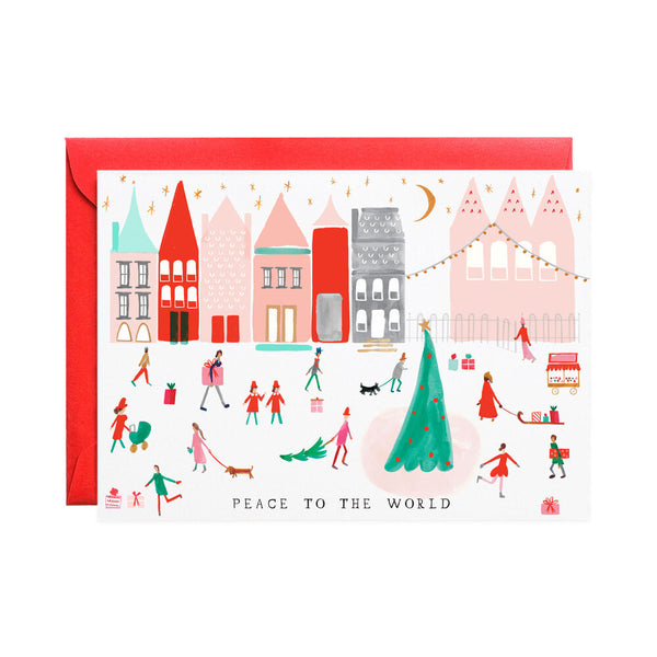 Peace World Holiday Greeting Card