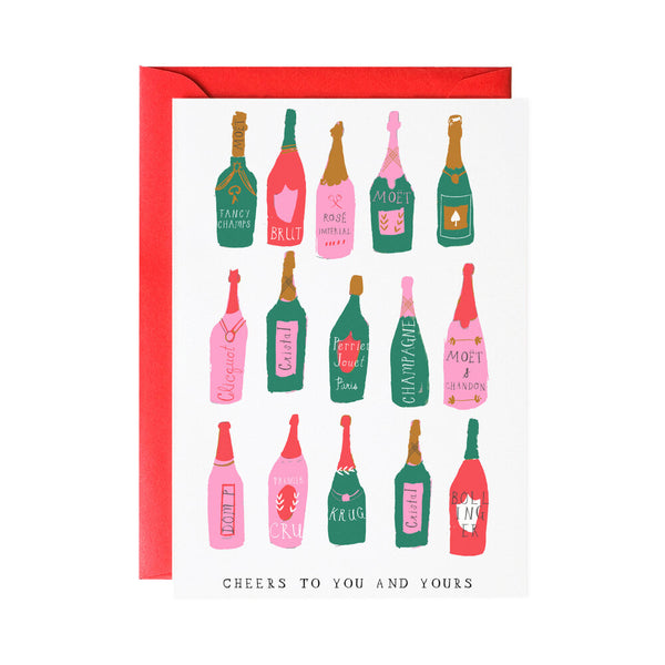 Cheers To You and Yours Holiday Greeting Card