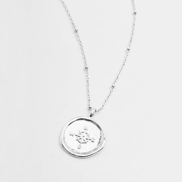 Enamel Coin Necklace