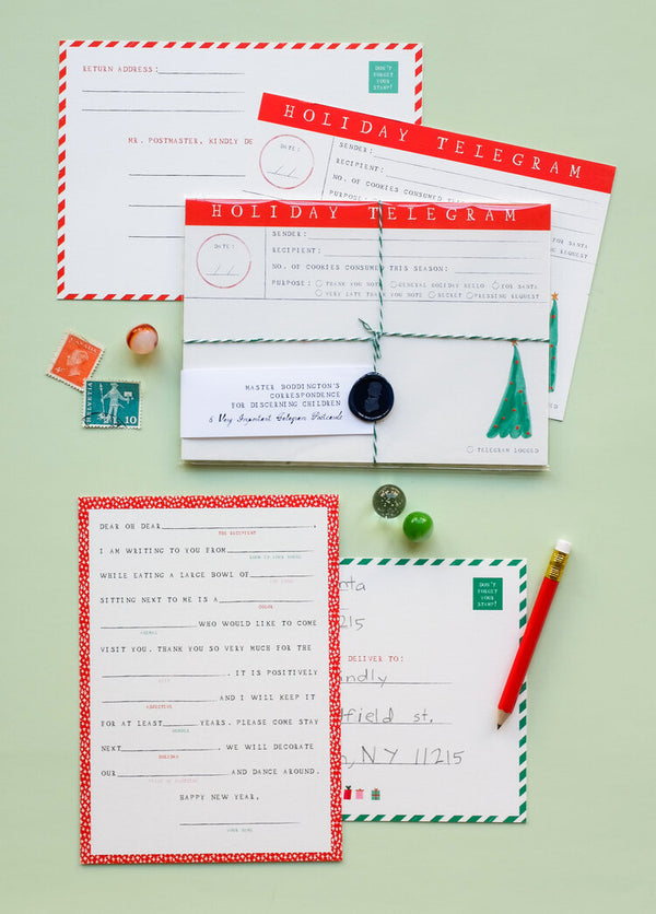 Holiday Fill in the Blanks Postcards