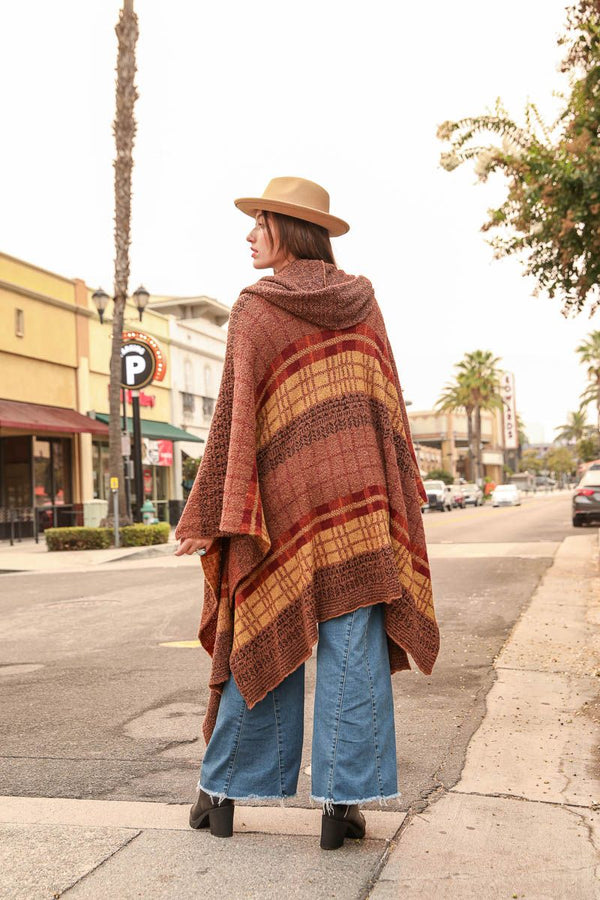 Back in the 70's Plaid Poncho