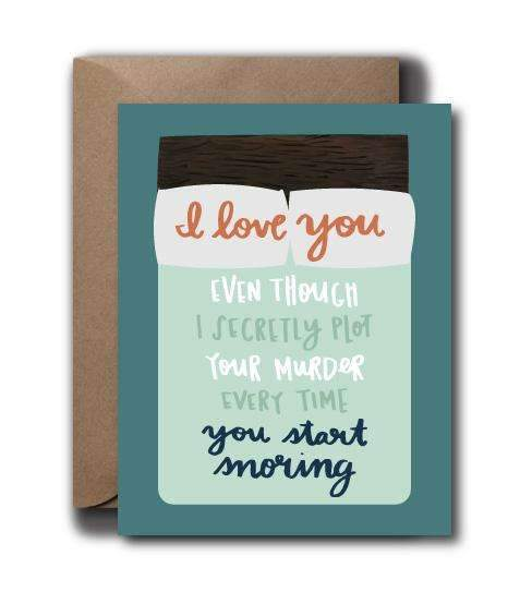 Snoring Love Greeting Card