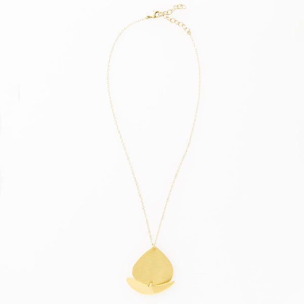 Matte Brass Necklace