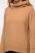 Load image into Gallery viewer, Dolman Sleeve Turtle Neck Sweater