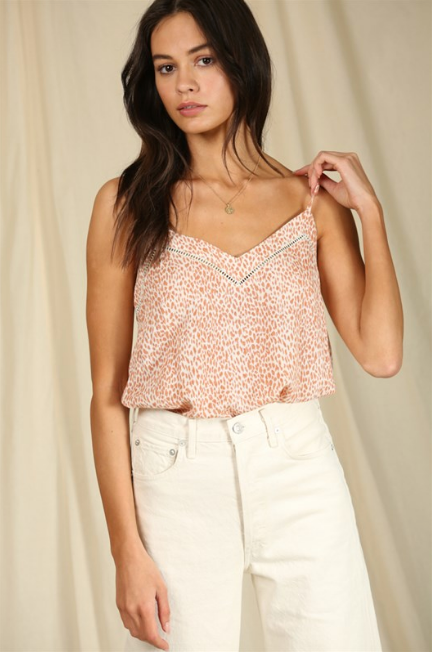 Woven Coral Tank