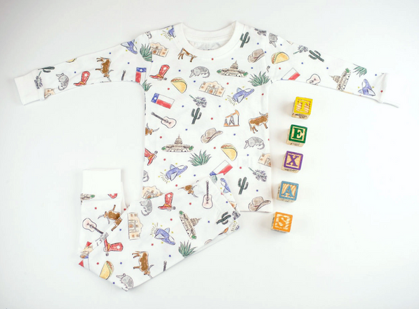 Texas Kids Organic Cotton Pajama Set/Onesie