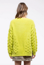 Load image into Gallery viewer, Textured Lime Green Sweater