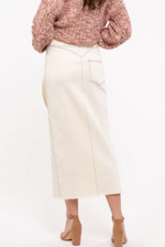 Load image into Gallery viewer, Cotton Stretch Midi-Skirt