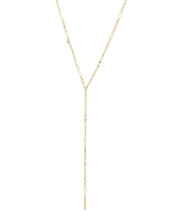 Gorjana Amalfi Lariat Necklace - Blush Enamel