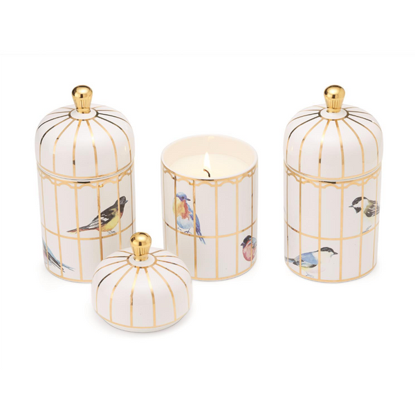 Gilded Bird Cage Candle