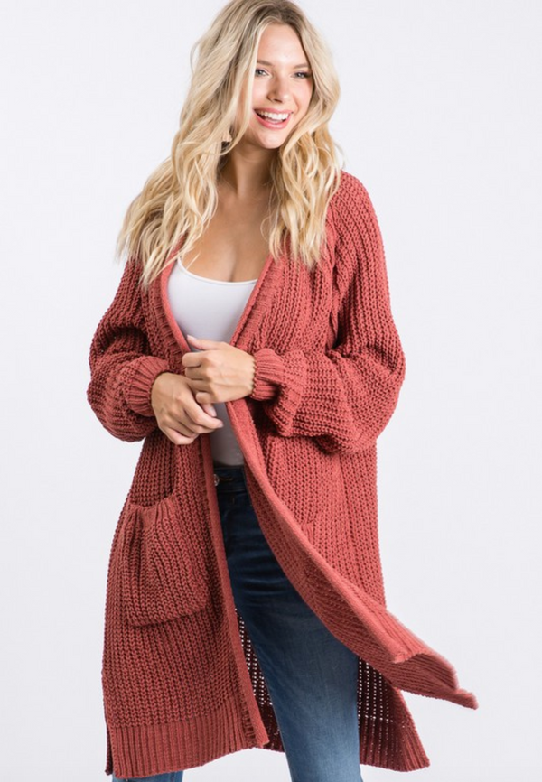 Staying In Knit Cardigan