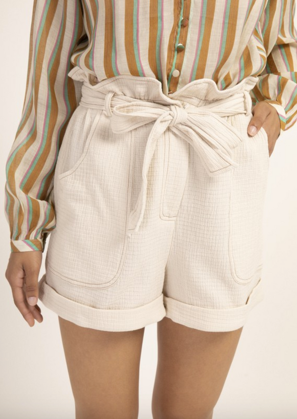 Danka Cream High Waisted Woven Shorts