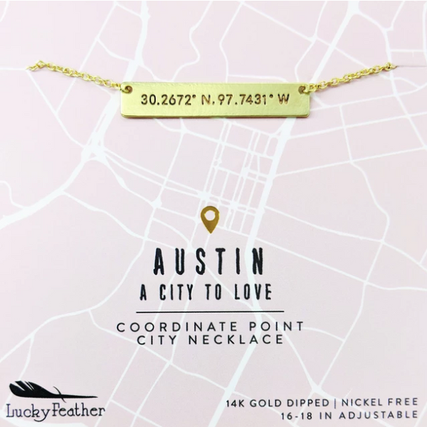 Austin Coordinates Necklace