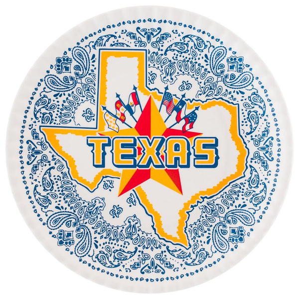 "Texas 9"" Melamine Plates, Set of 4"