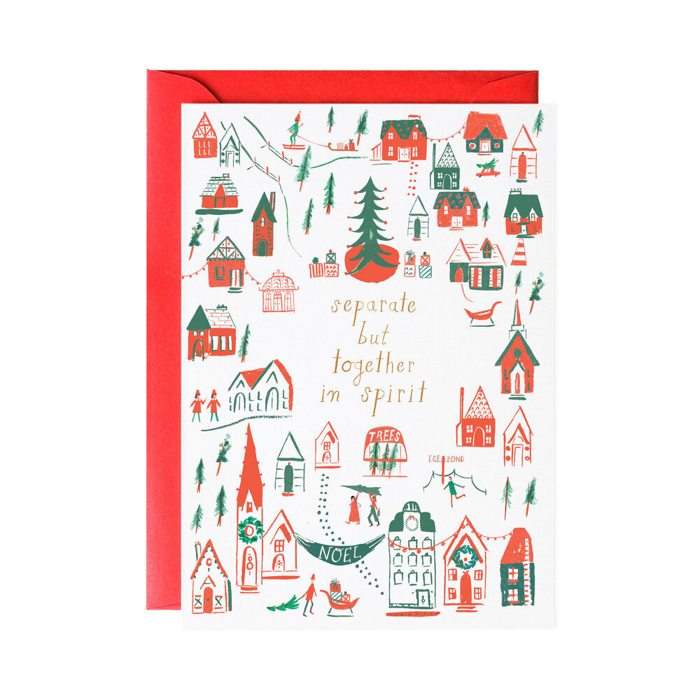 Separate But Together Holiday Greeting Card