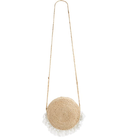 Marina Woven Circle Crossbody Bag
